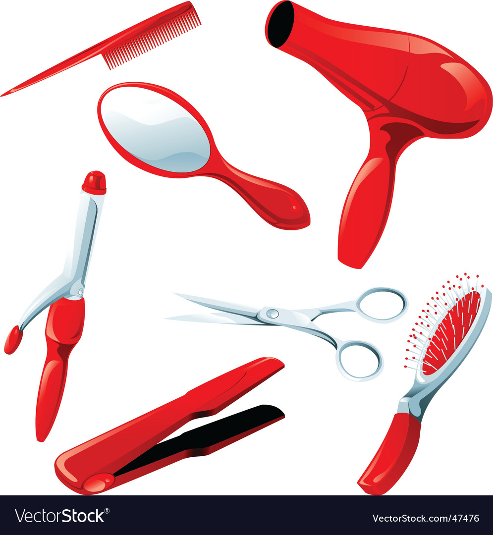 Hair styling necessities vector