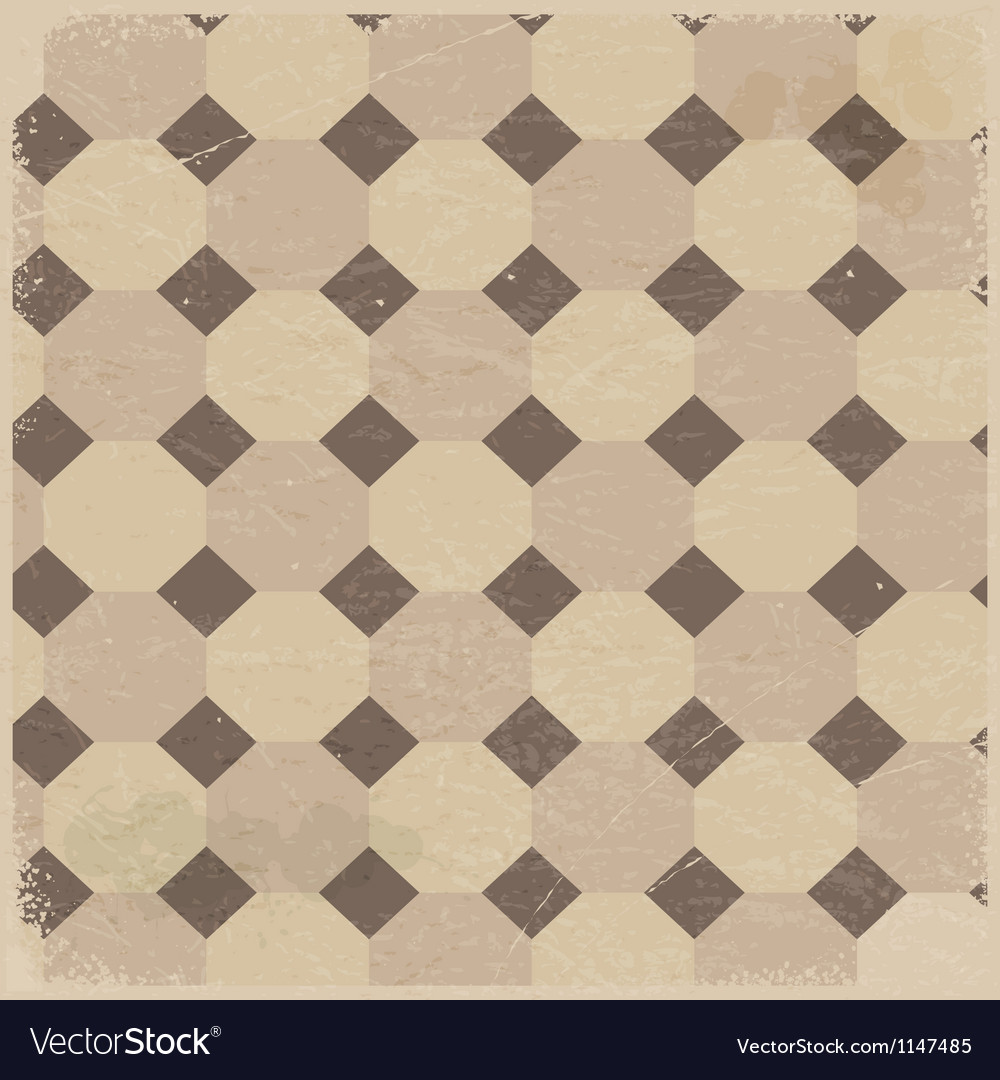Vintage background with rhombus pattern vector