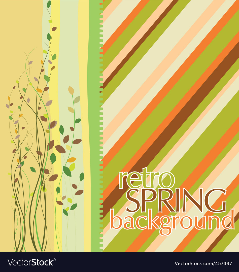 Spring design background vector