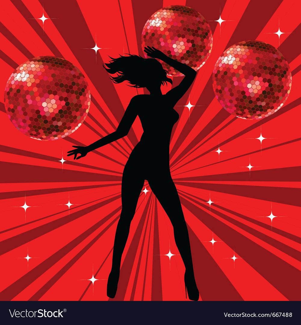 Sexy female dancing vector