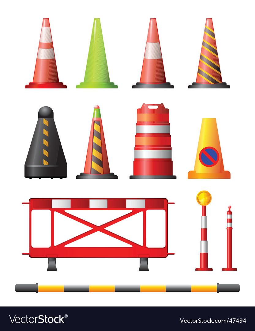Colorful Traffic Cones