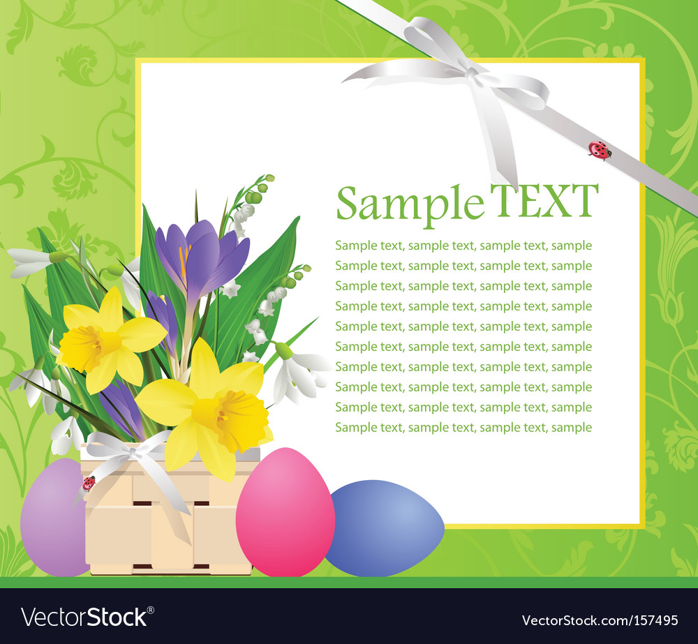 Easter green text vector