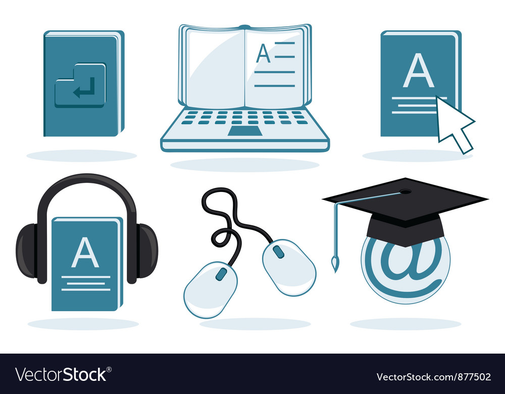 Electronic education vector