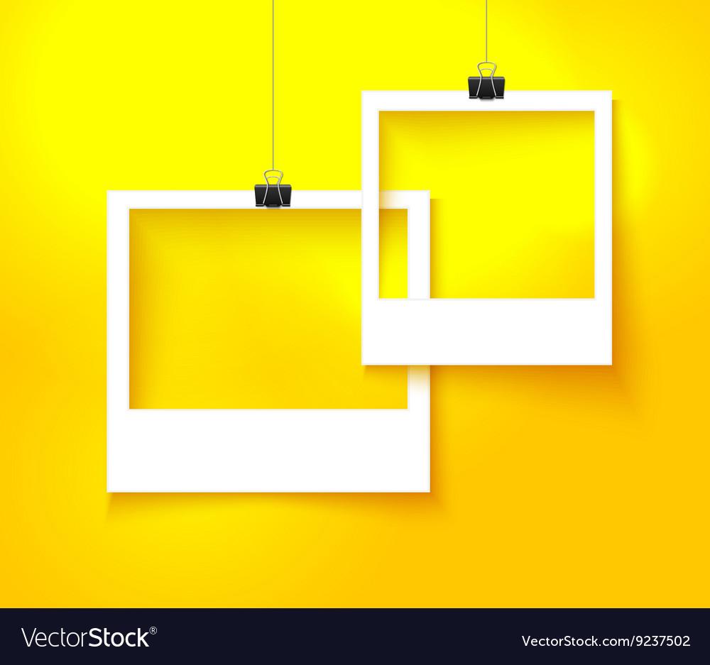 paper photo frames composition template vector by voinsveta image 9237502 vectorstock. Black Bedroom Furniture Sets. Home Design Ideas
