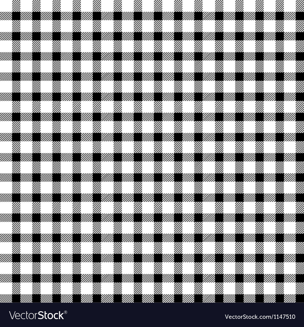 Seamless retro whiteblack square tablecloth vector