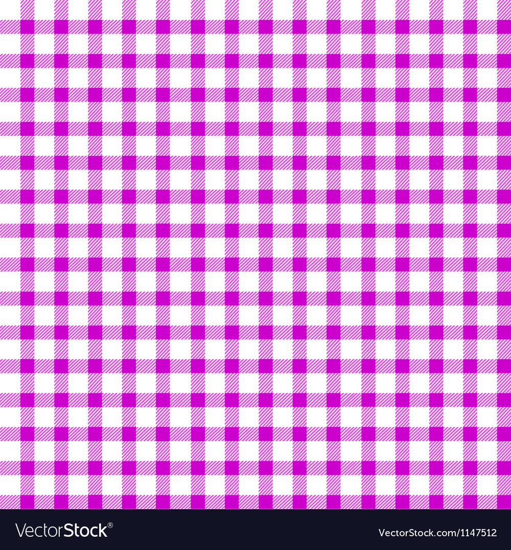 Seamless retro whitepink square tablecloth vector