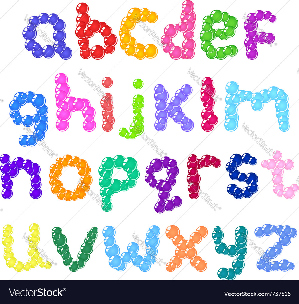 Lower case bubbles alphabet vector by yayayoy - Image #737516 ...