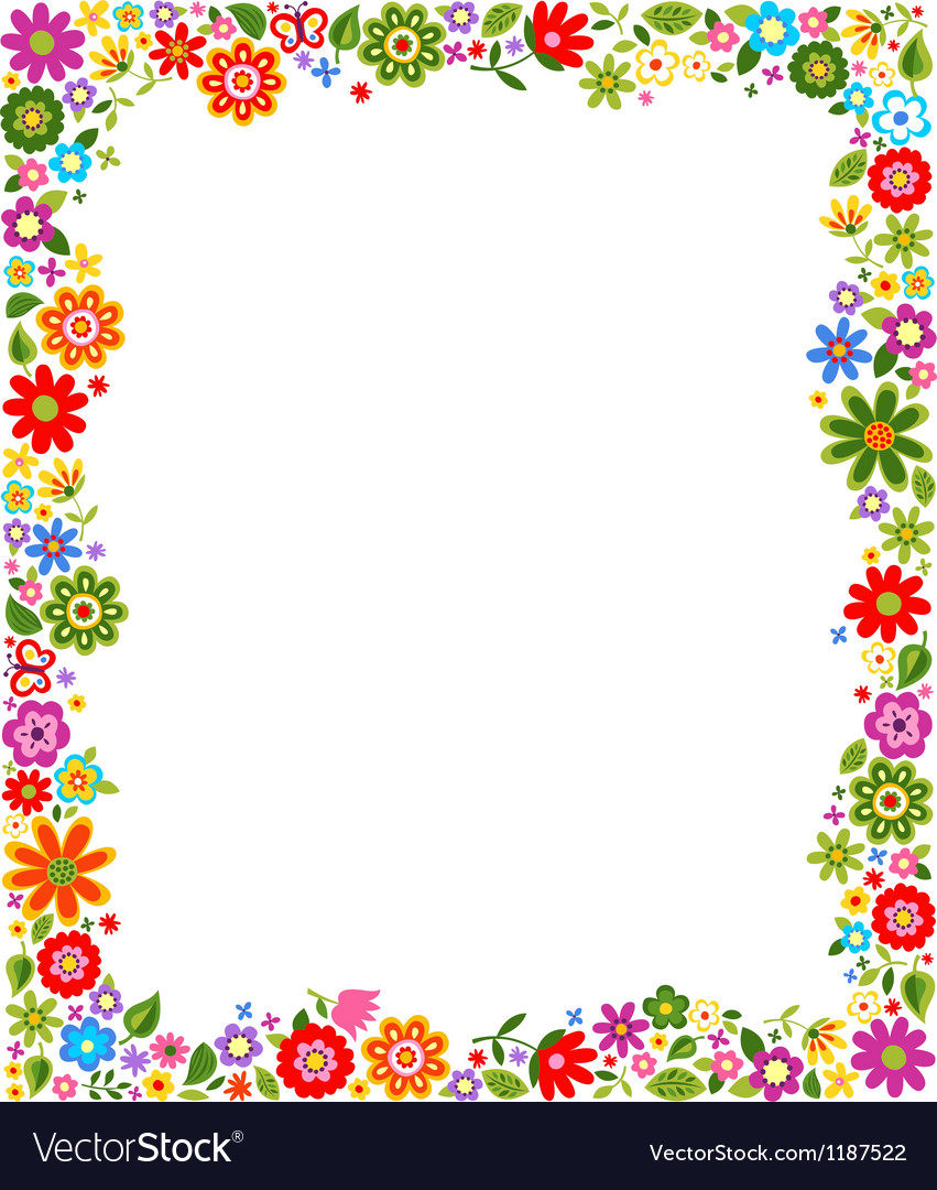 floral border frame background vector by pauljune image