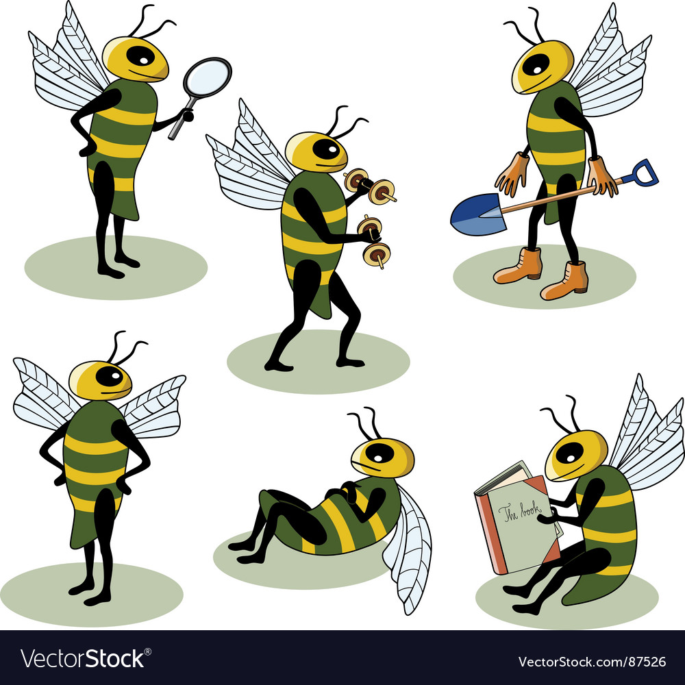 Selection of bees vector