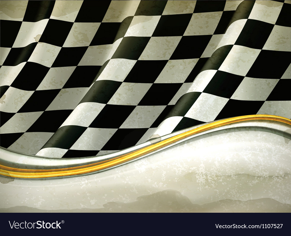 Checkered background oldstyle vector