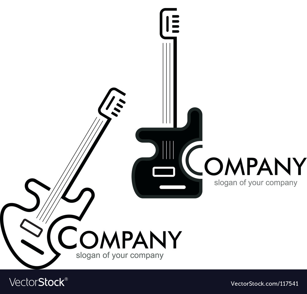 Guitar logotype vector