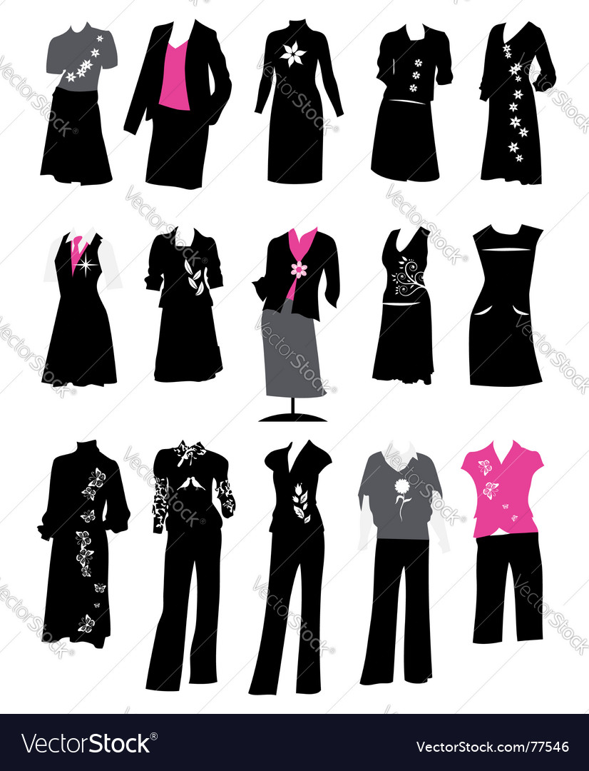 Womens business suits vector