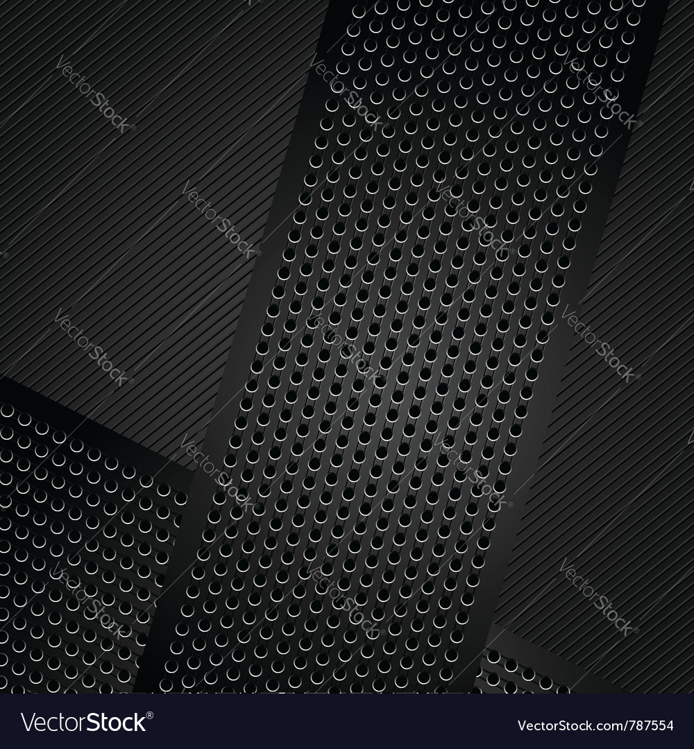 Metallic ribbons on corduroy background vector