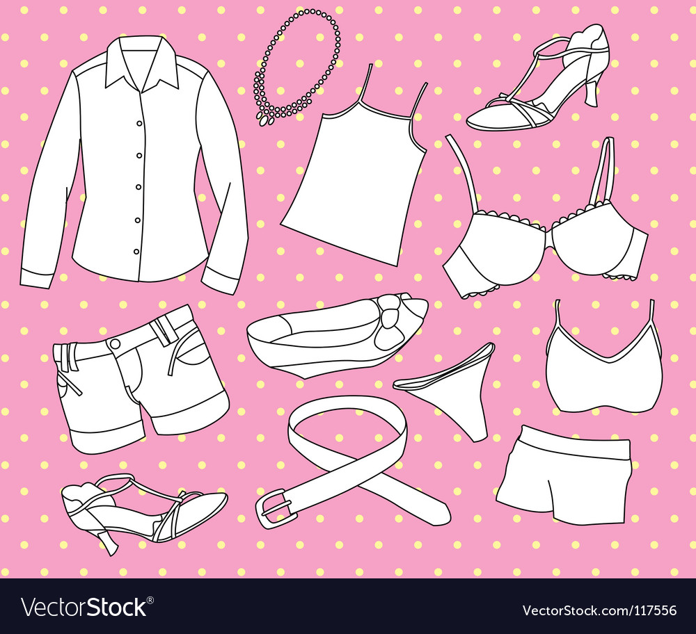 Girls clothing vector