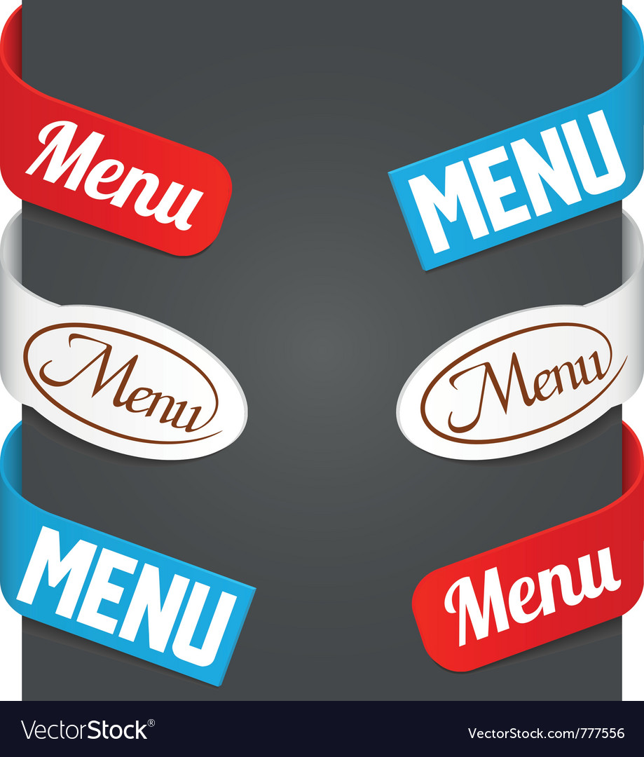 Left and right side signs  menu vector