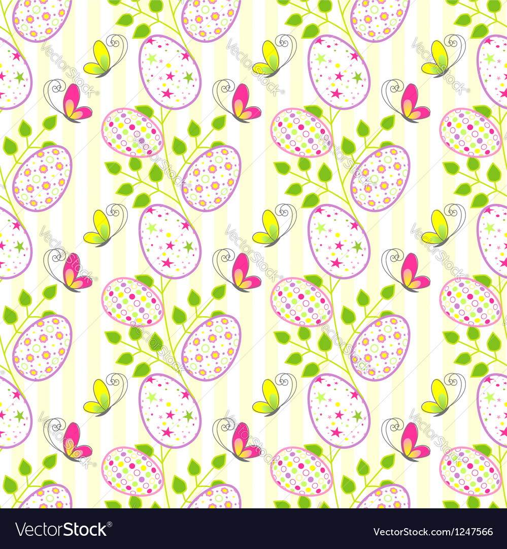 Colorful easter holiday seamless pattern backgroun vector