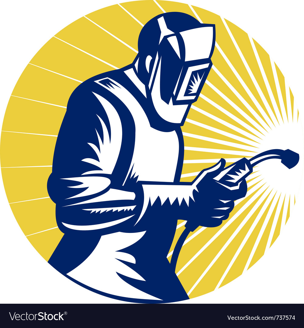 Welder fabricator vector