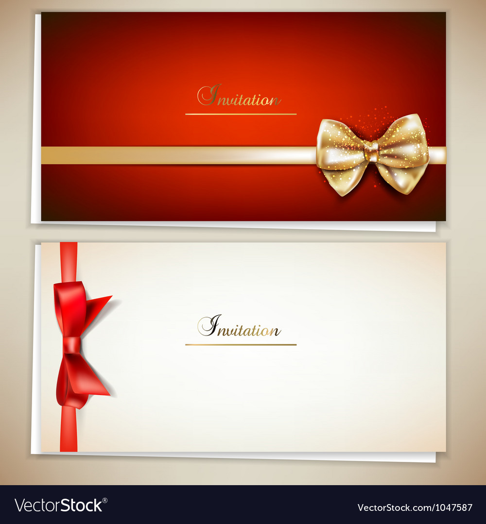 Elegant invitation cards template vector