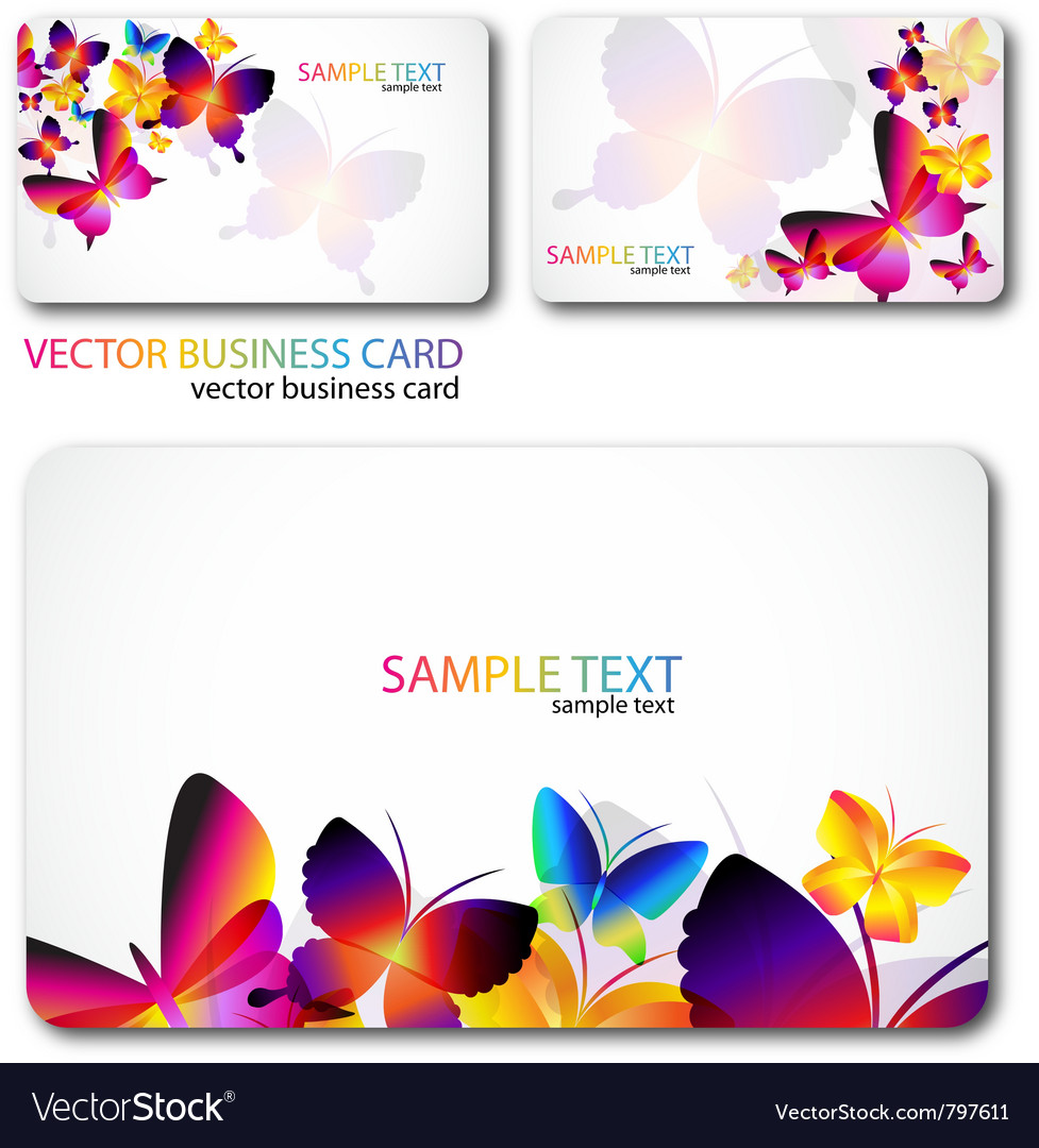 Modern businesscard set vector
