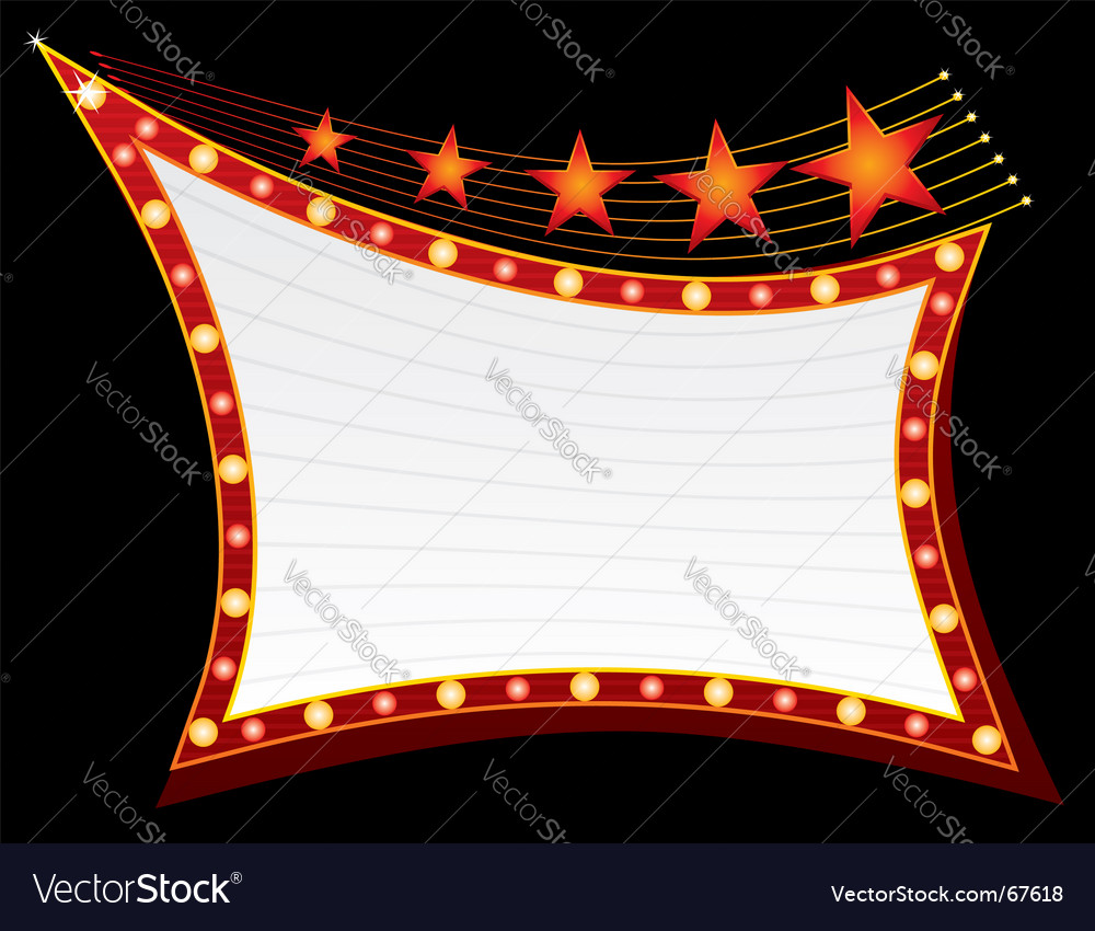 Stars on neon light vector