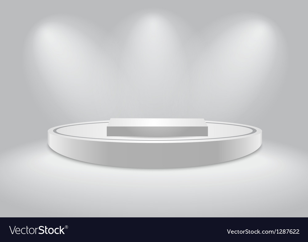 White podium vector
