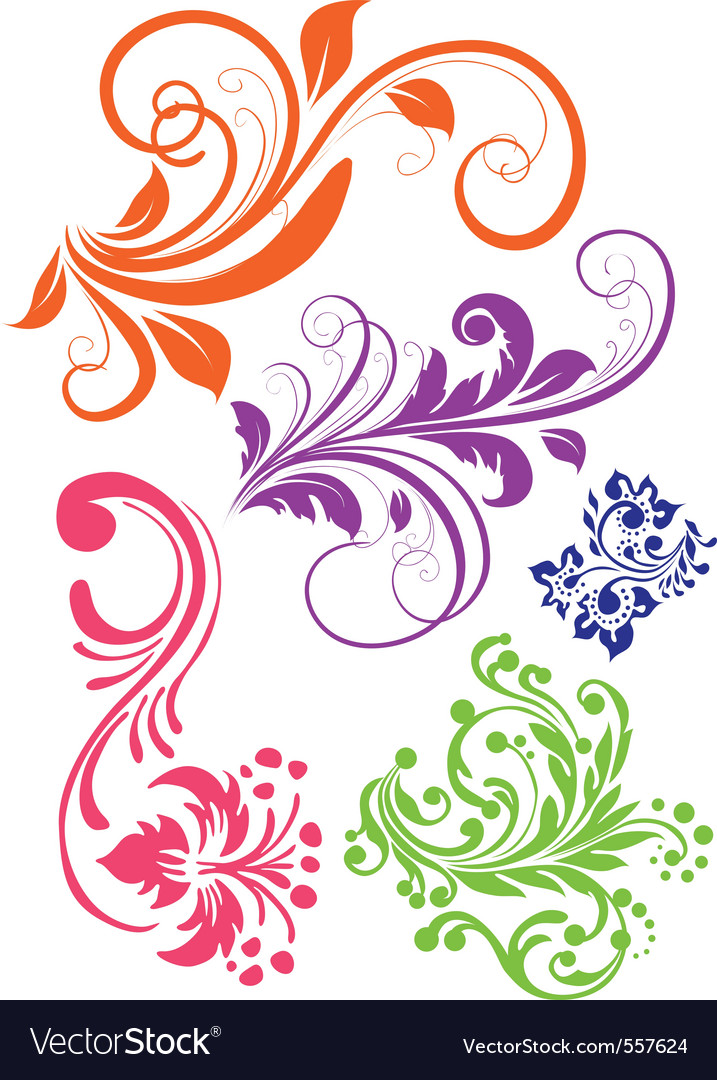 Floral swirl patterns - photo#22