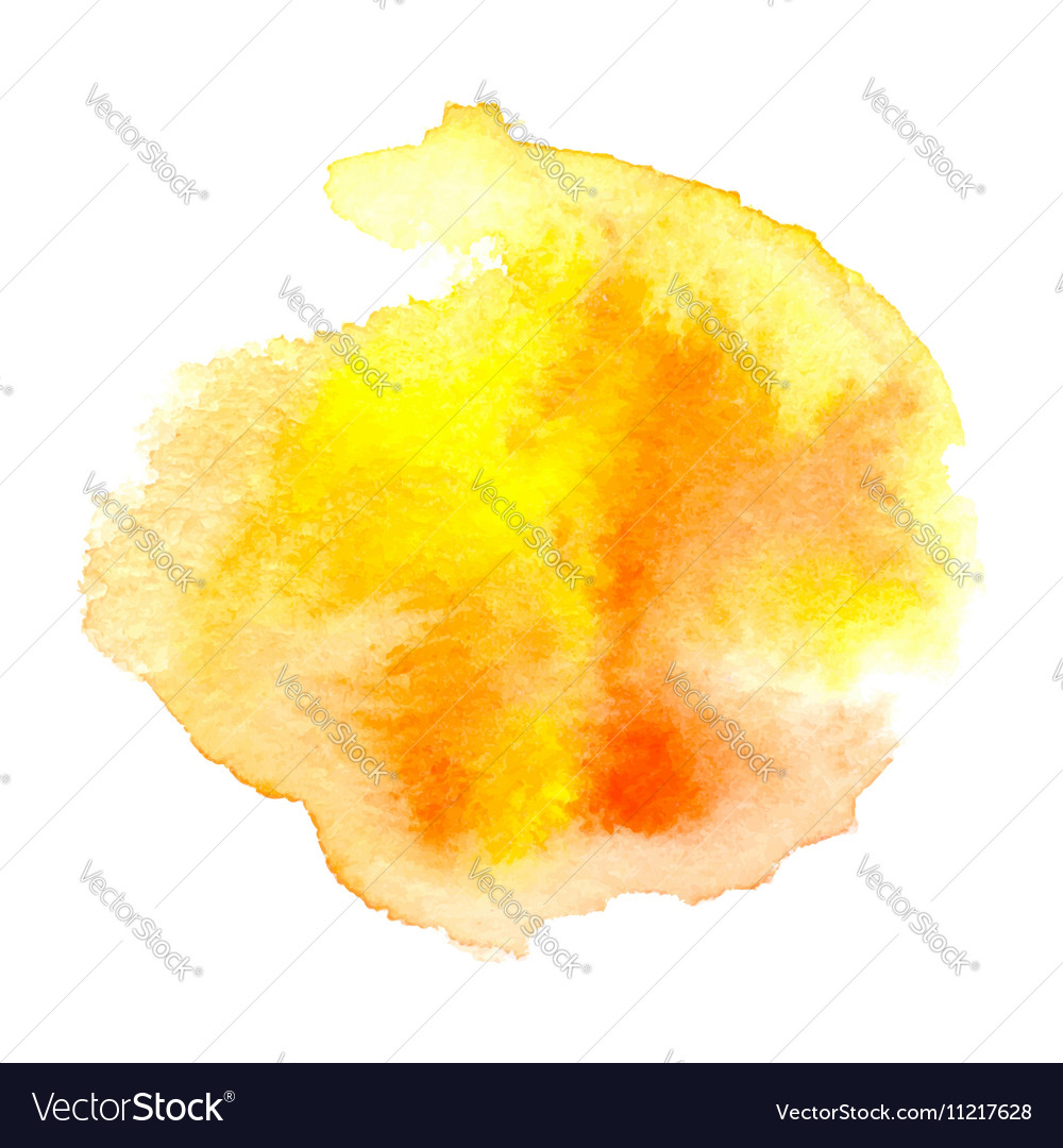 Watercolor orange background vector