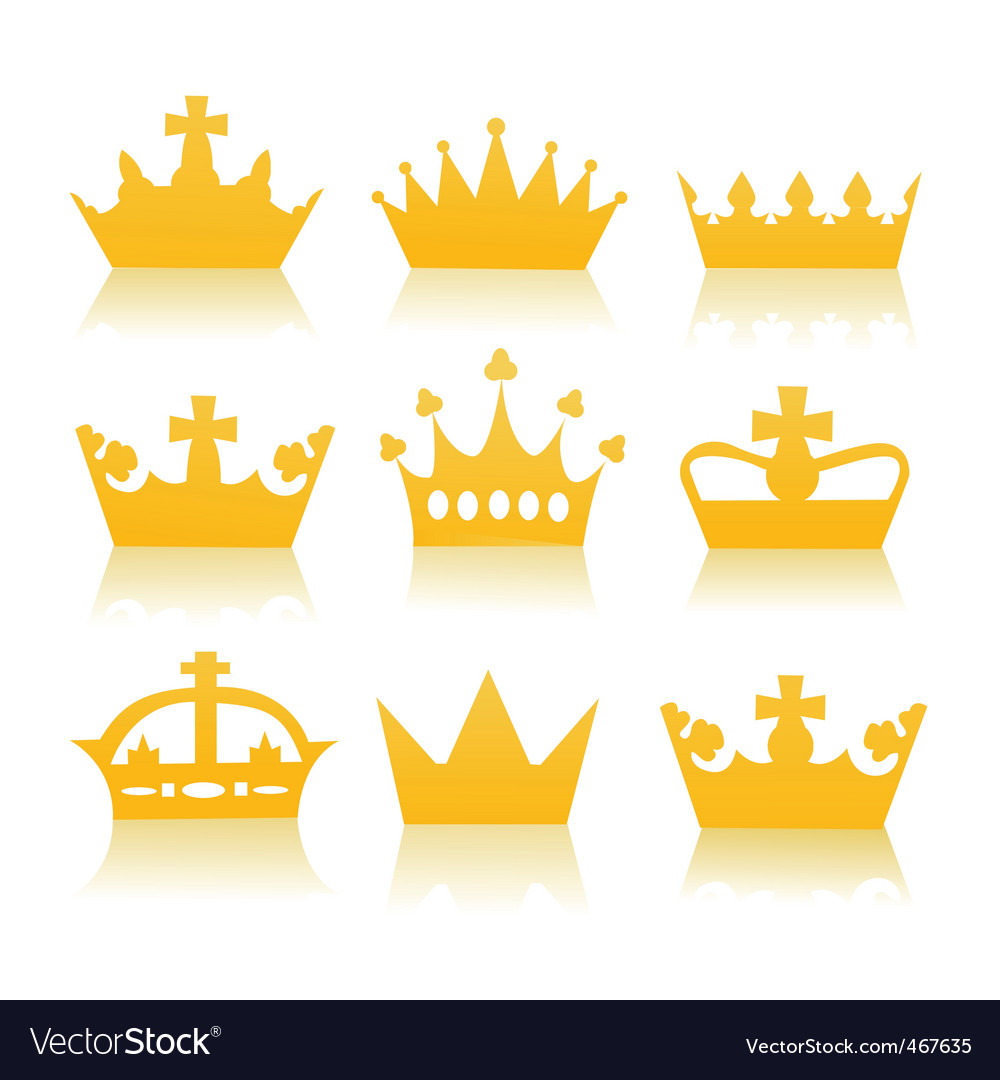 Golden crowns vector