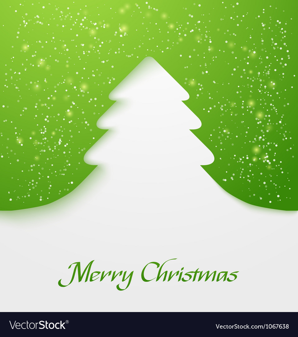 Green christmas tree applique vector