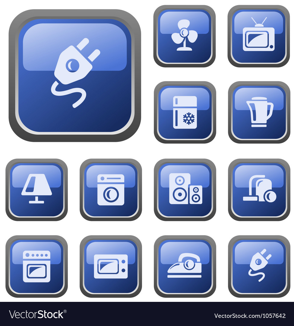 Home electronics buttons vector