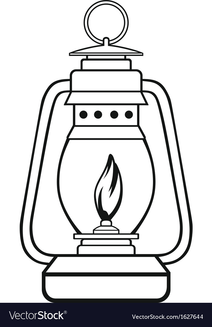 old dusty oil lamp vector by kreatiw image 1627644 vectorstock. Black Bedroom Furniture Sets. Home Design Ideas