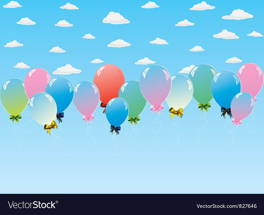 Balloons toy sky vector