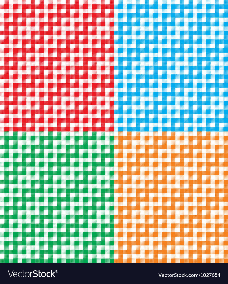 Retro tablecloth texture vector