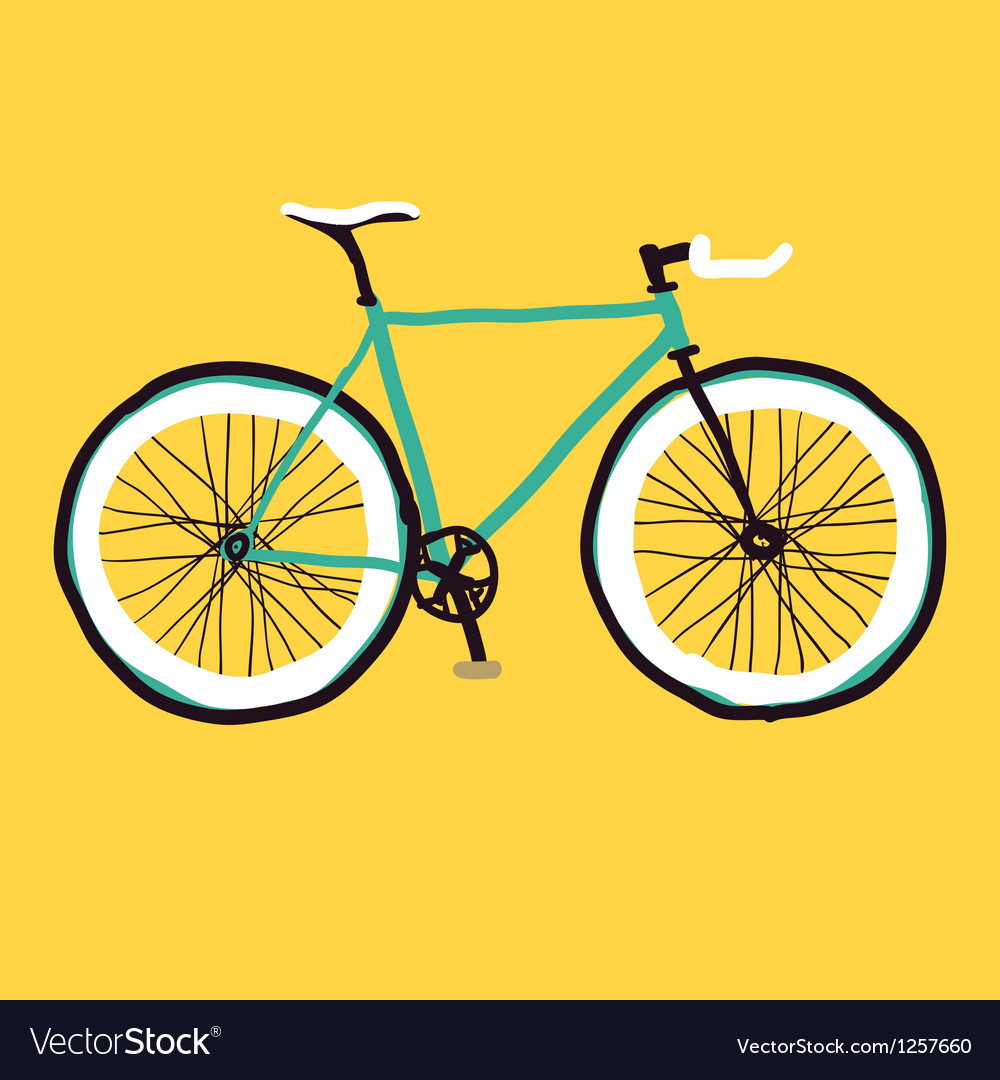Hand drawn bicycle vector