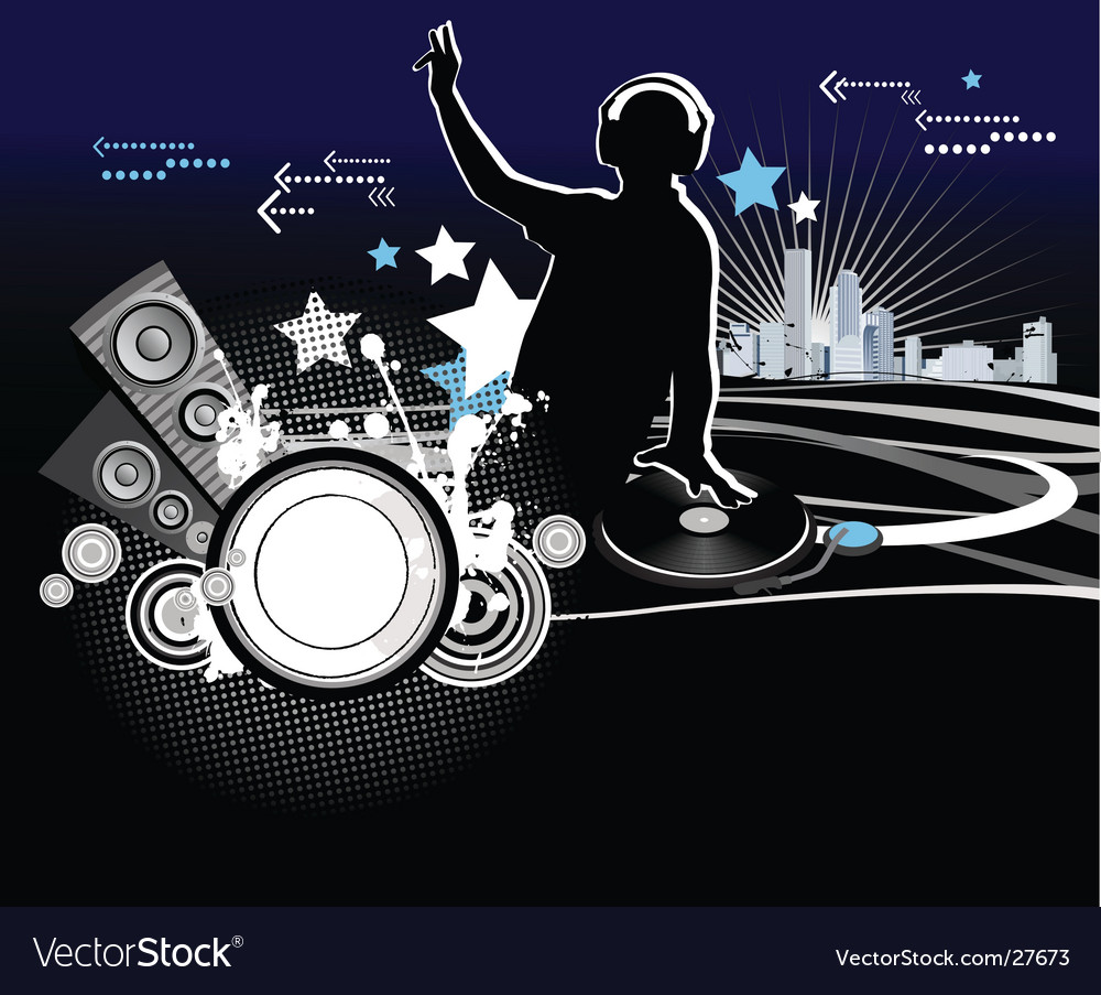 Dj music concept vector