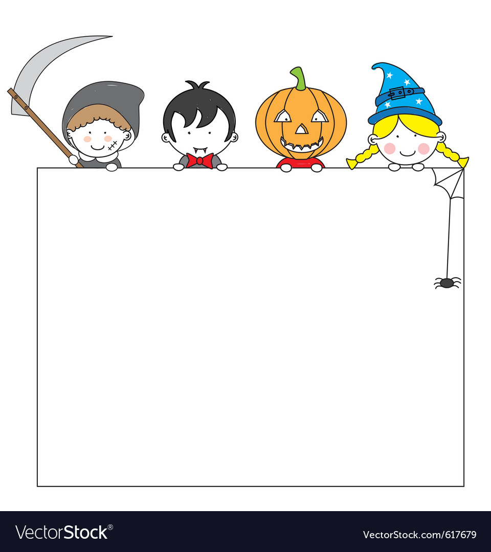 Postcard halloween vector