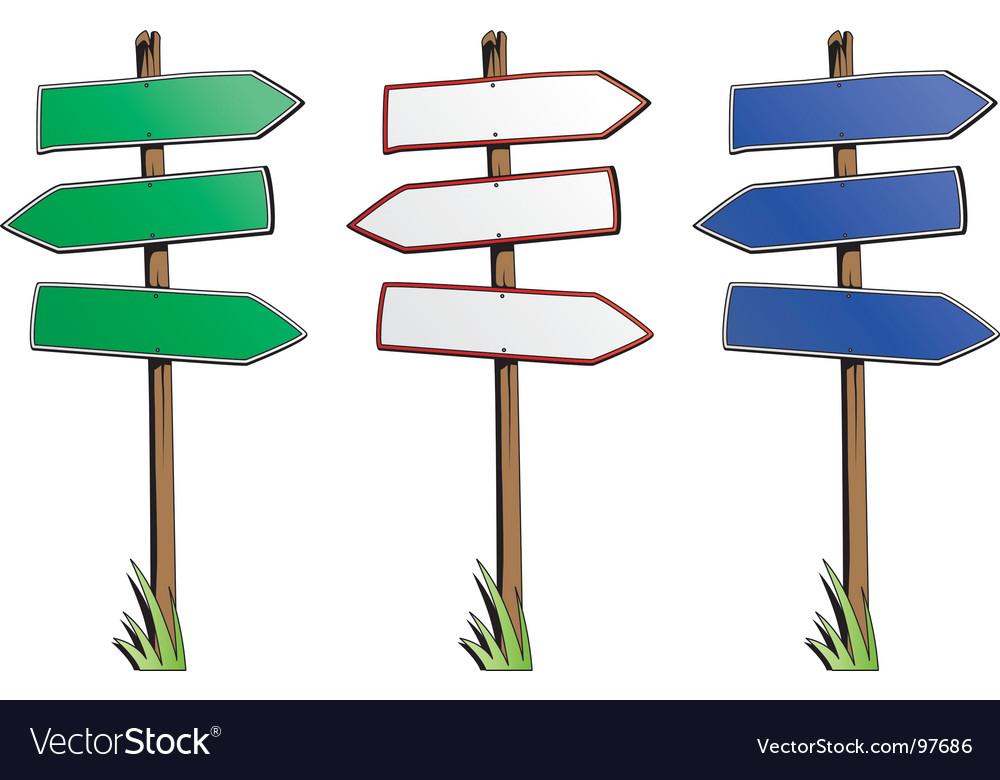 Direction signs vector