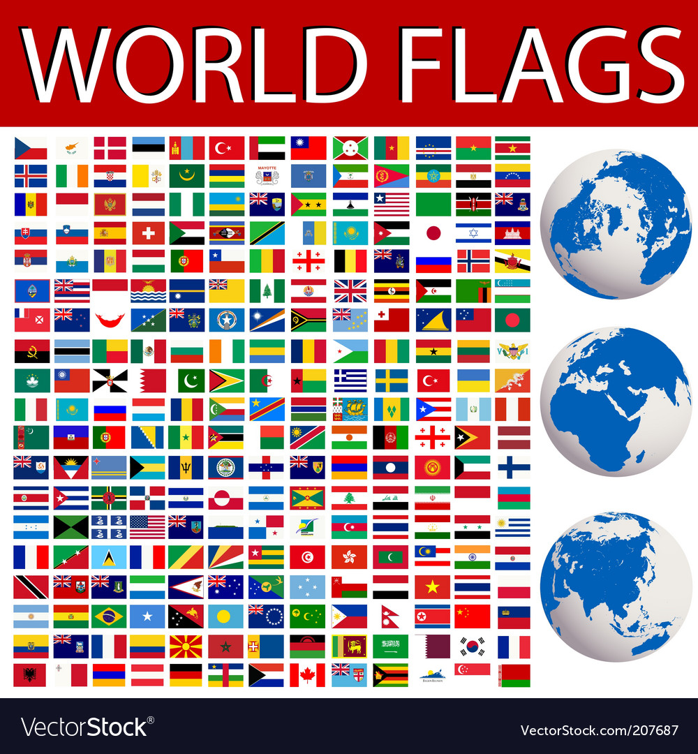 World flags vector