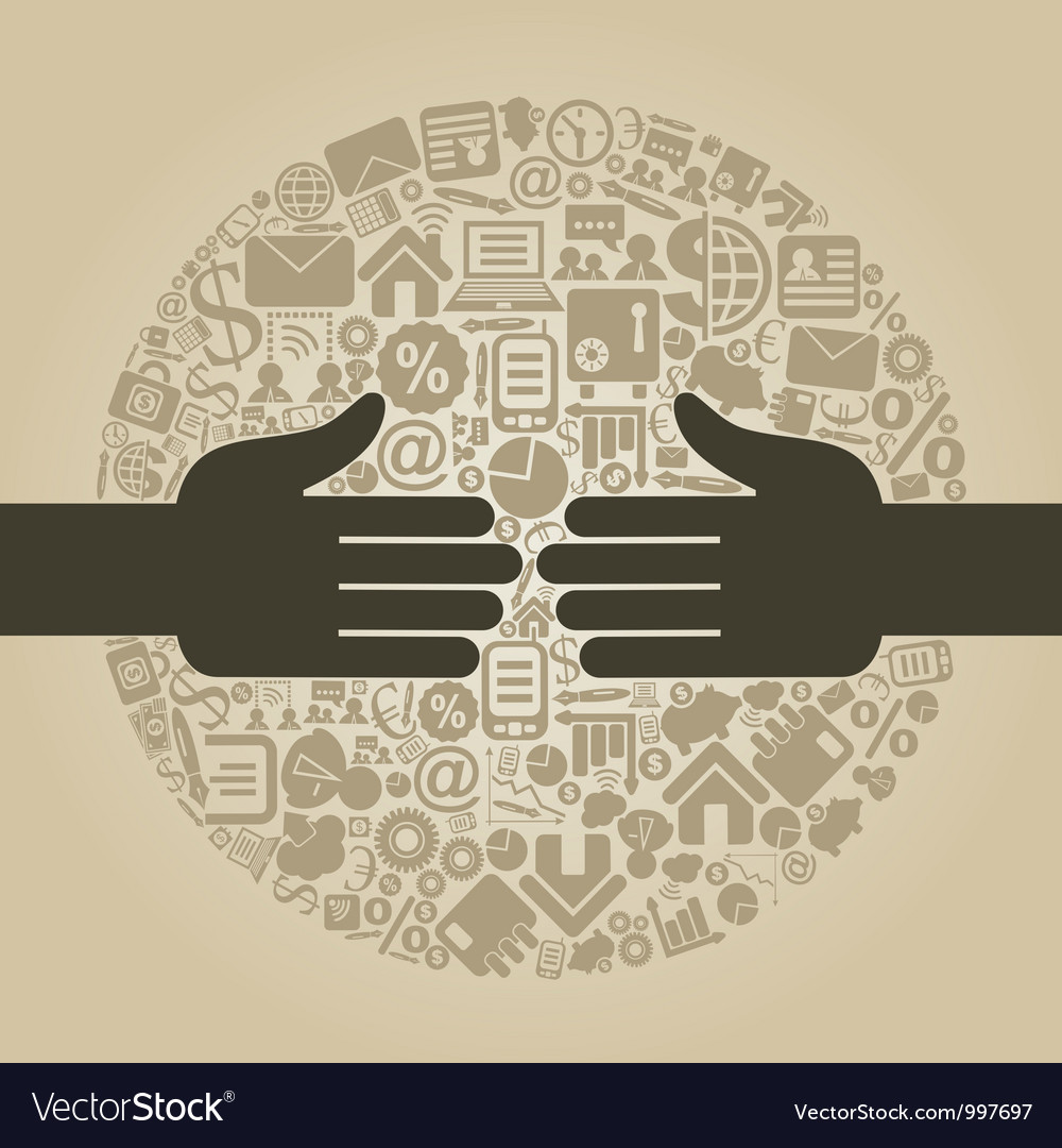 Hand business4 vector