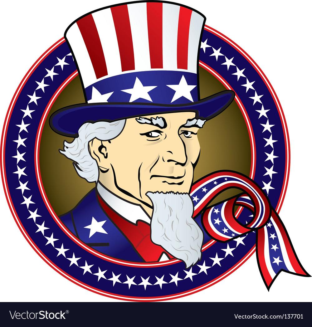 Uncle sam Vector Image by dedMazay - Image #1004976 - VectorStock