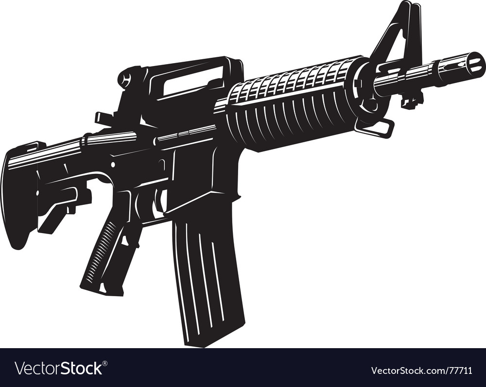 Machine gun vector