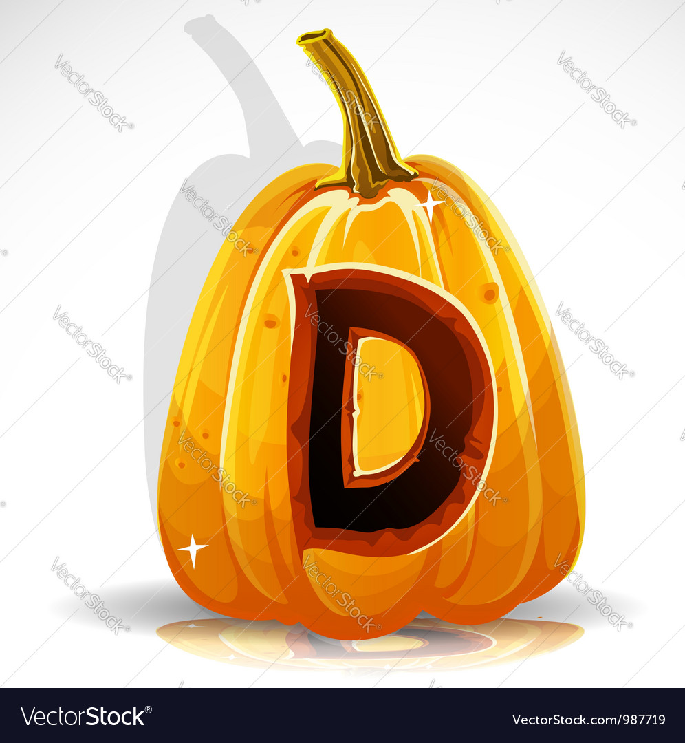 Halloween pumpkin d vector
