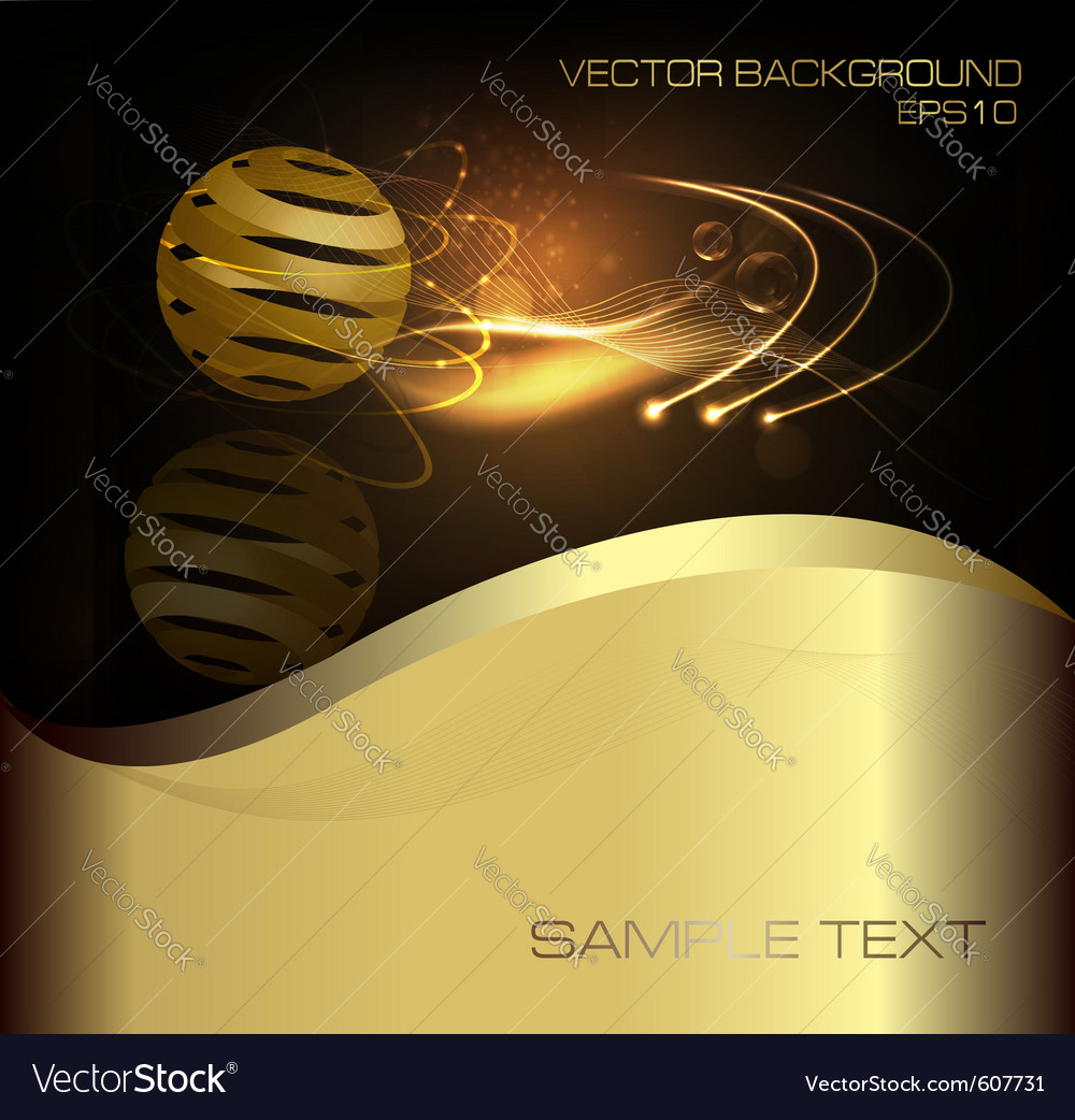 Abstract gold business background vector