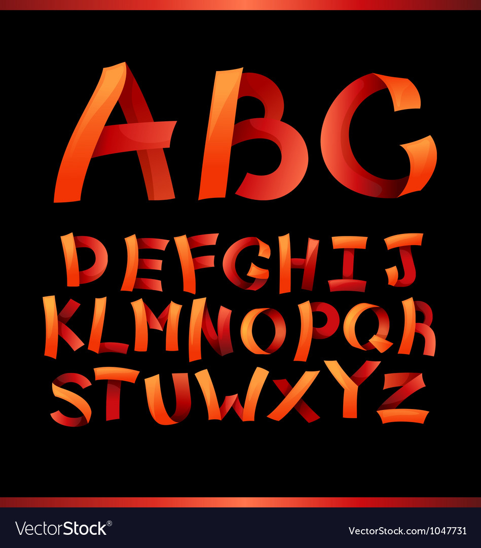 Paper crafting alphabets vector