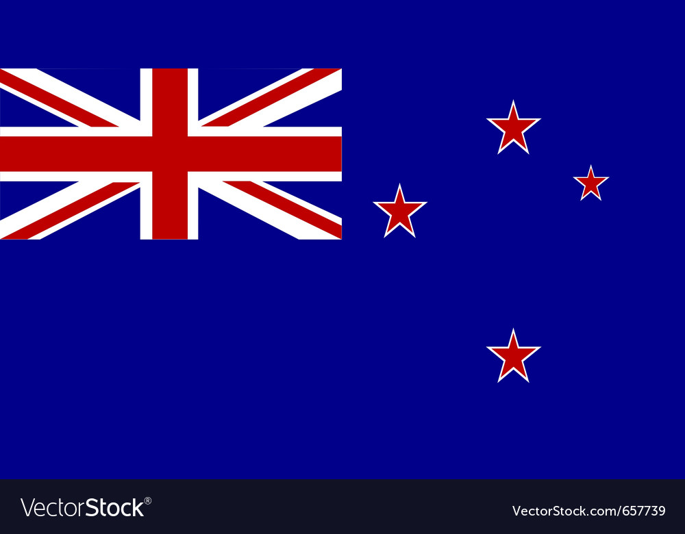 New zealand national flag vector