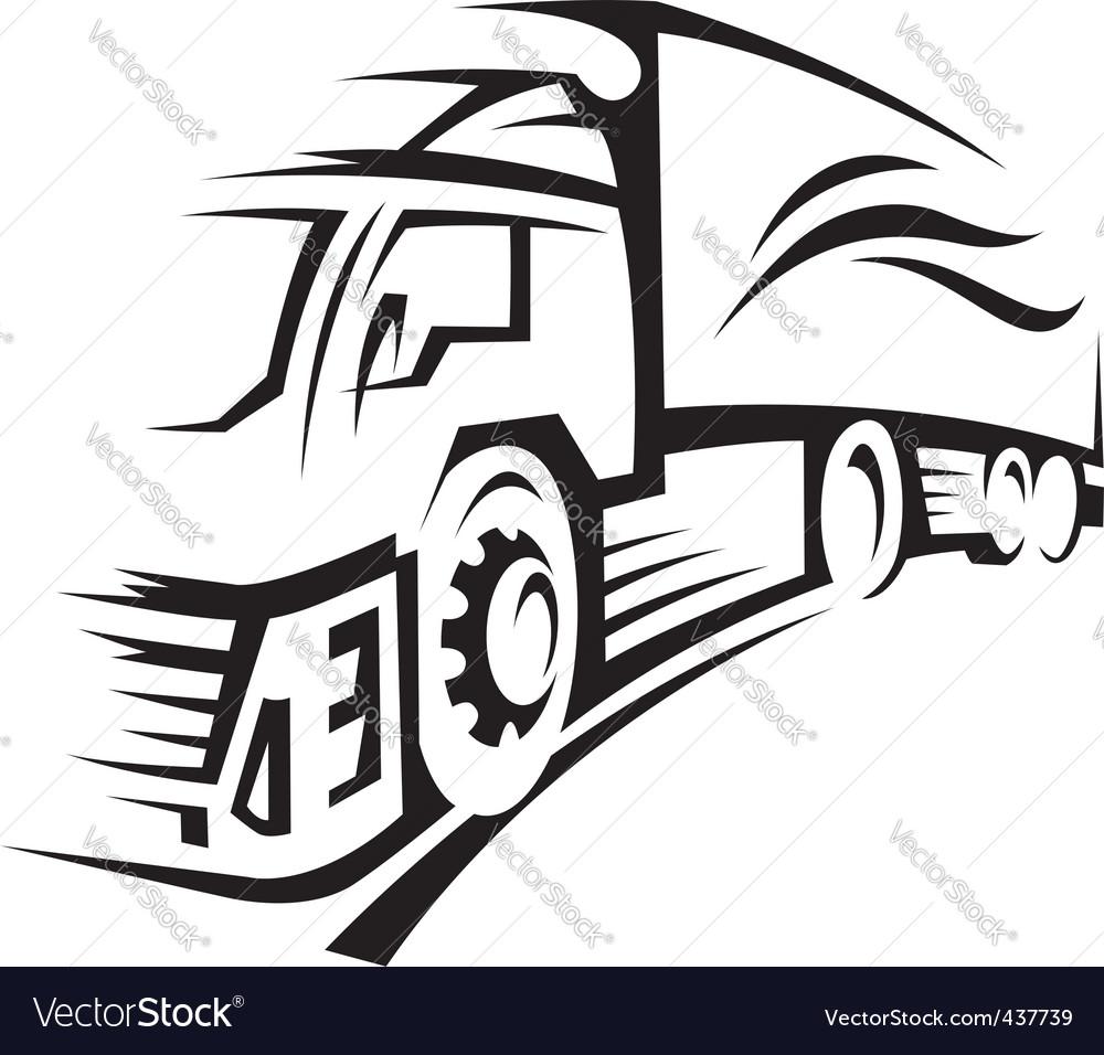 Truck vector by alexkava - Image #437739 - VectorStock