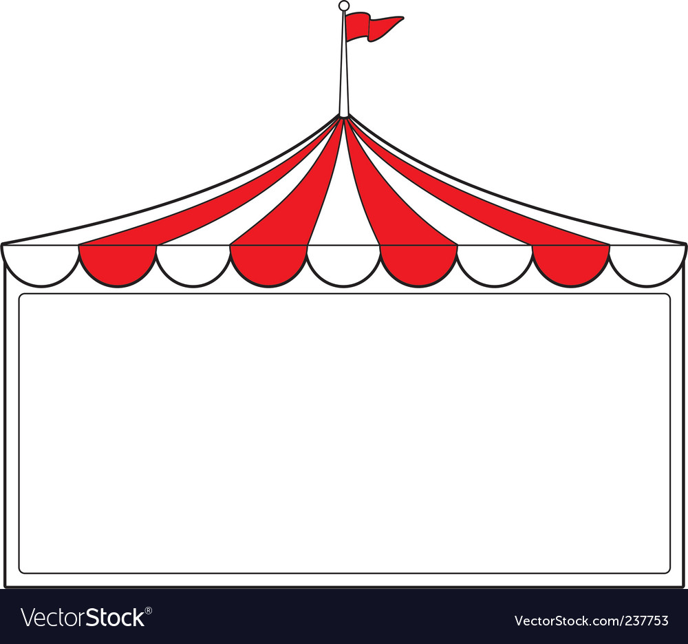 Tent sign vector