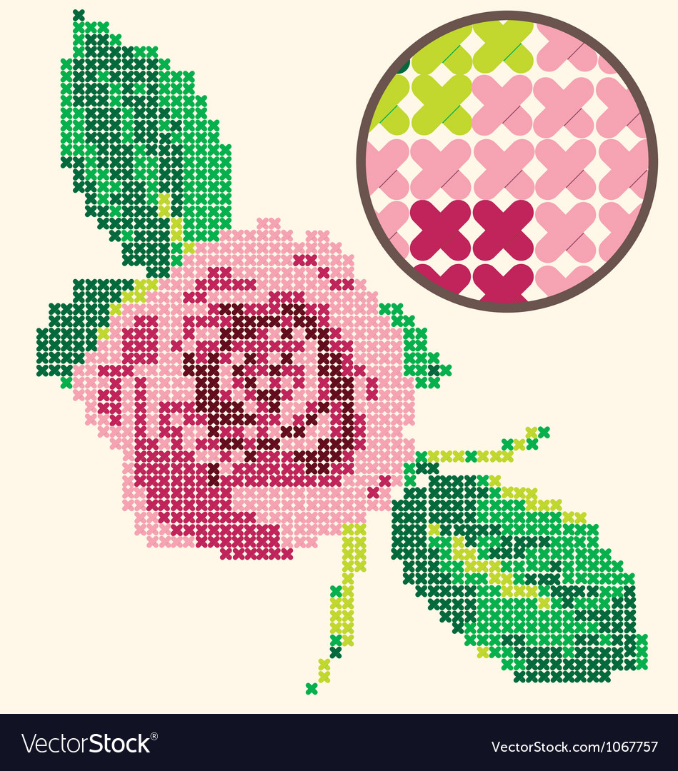 Rose coarse muslin vector