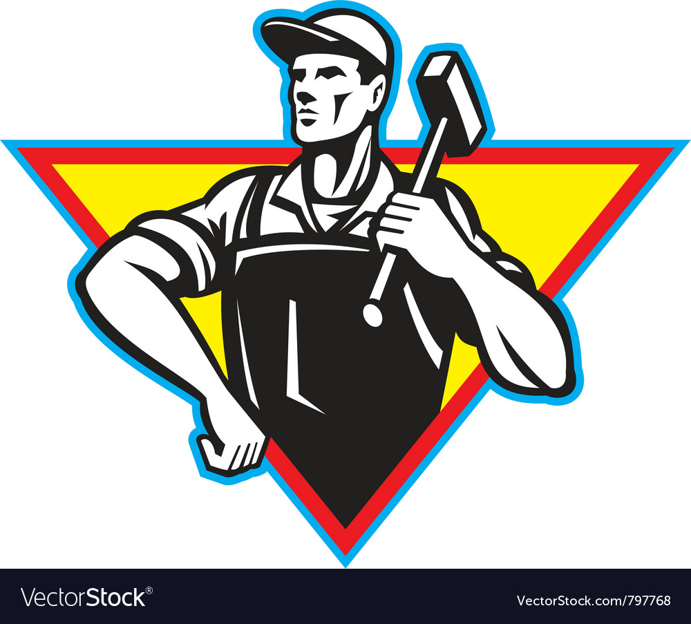 Laborer blacksmith vector