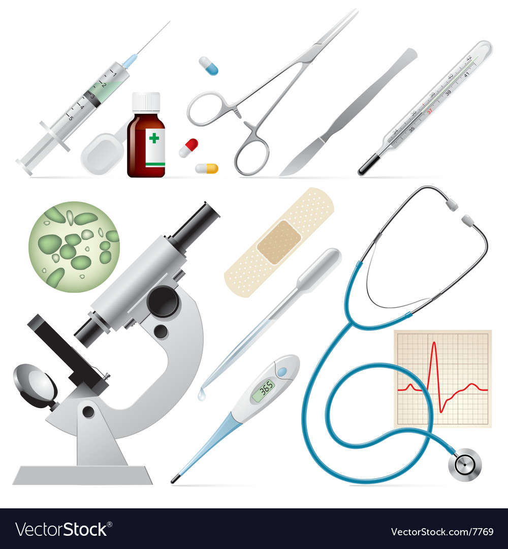 Set of medicine vector